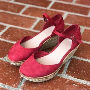 Camper Damas red suede Mary Jane